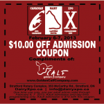 $10 off admission to Canadian Dairy Expo