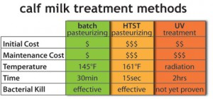 Calf Milk Treatment Methods
